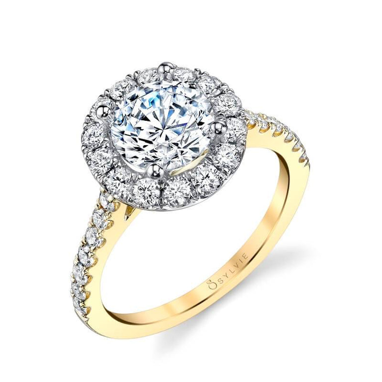 Two Tone Halo Engagement Ring S1199-RB-TT - Chalmers Jewelers