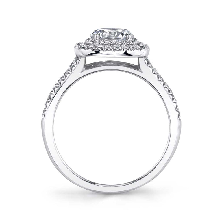 Cushion Shaped Double Halo Engagement Ring S1390 - Chalmers Jewelers