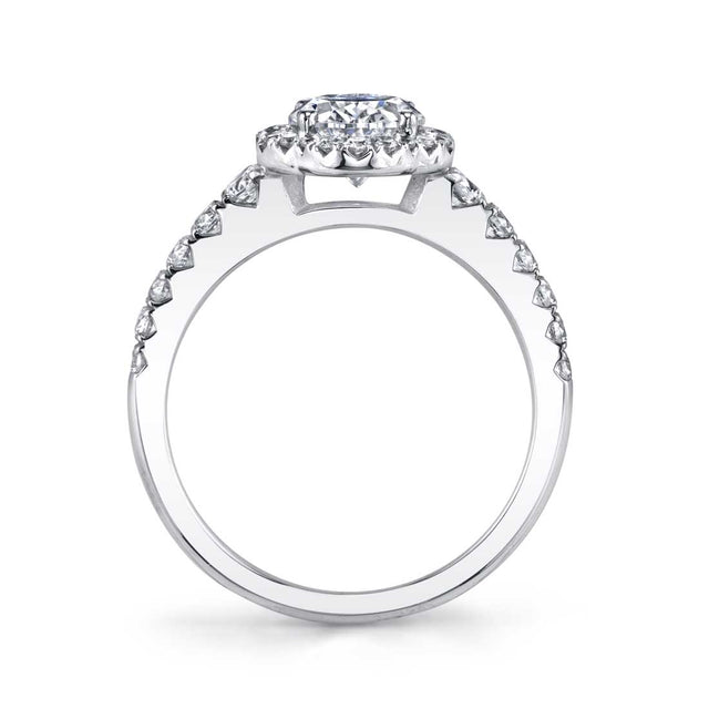 Oval Engagement Ring With Halo S1804 - Chalmers Jewelers