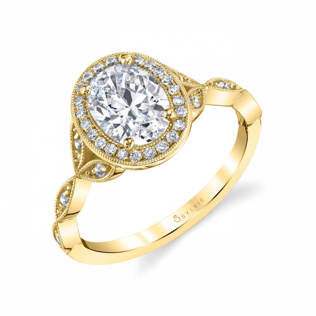 OVAL ENGAGEMENT RING: S1924 - Chalmers Jewelers