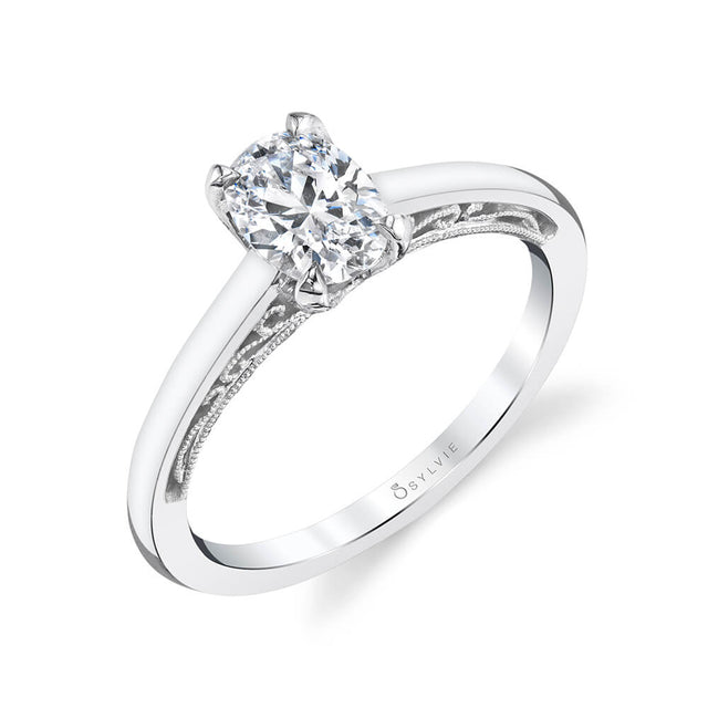 Solitaire Engagement Ring S2033 - Chalmers Jewelers