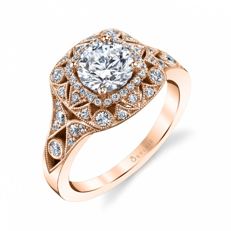 Vintage Inspired Engagement Ring S2111 - Chalmers Jewelers