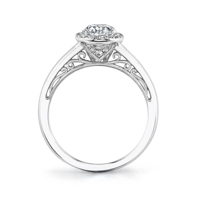 Halo Engagement Ring S2133 - Chalmers Jewelers