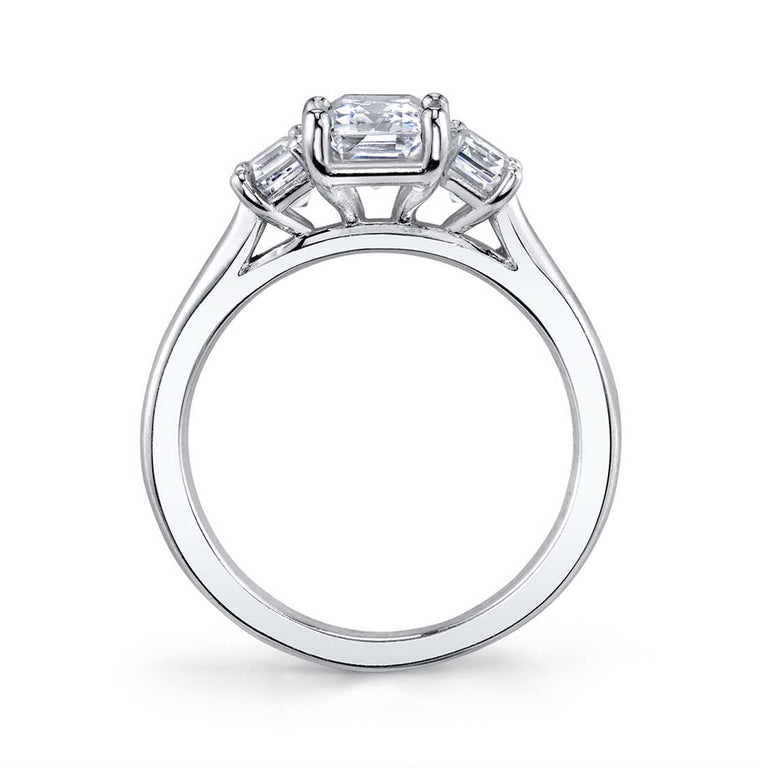 Three Stone Engagement Ring S3015 - Chalmers Jewelers