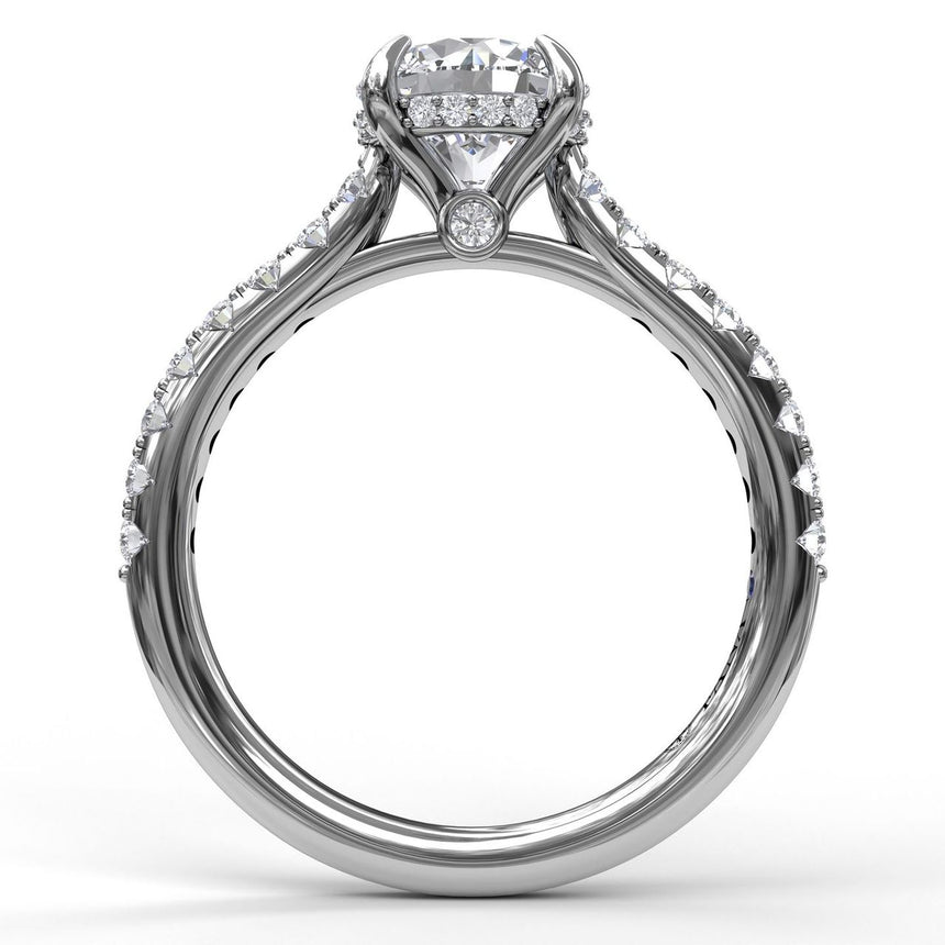 Classic Round Cut Solitaire With Hidden Halo 3024 - Chalmers Jewelers