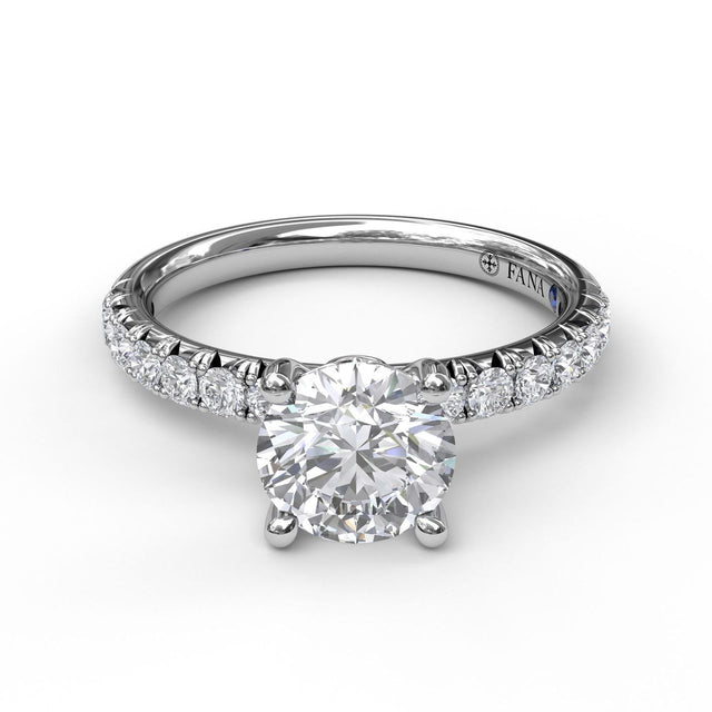 Classic Pave Round Cut Solitaire 3030 - Chalmers Jewelers