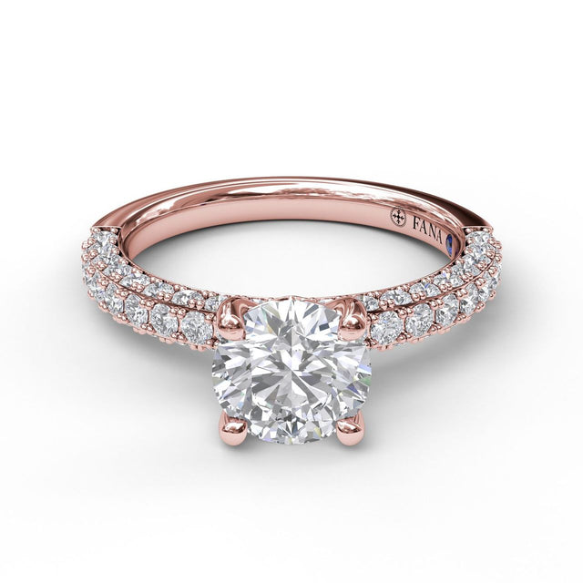 Diamond-Encrusted Engagement Ring 3033 - Chalmers Jewelers