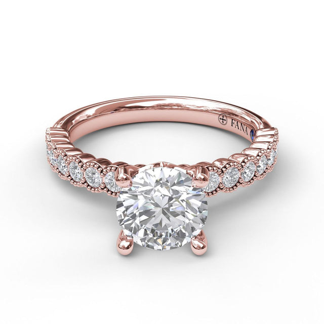 Diamond Engagement Ring with a Delicate Milgrain Edge 3037 - Chalmers Jewelers