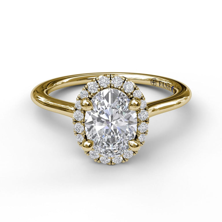 Oval Cut Halo Engagement Ring 3043 - Chalmers Jewelers