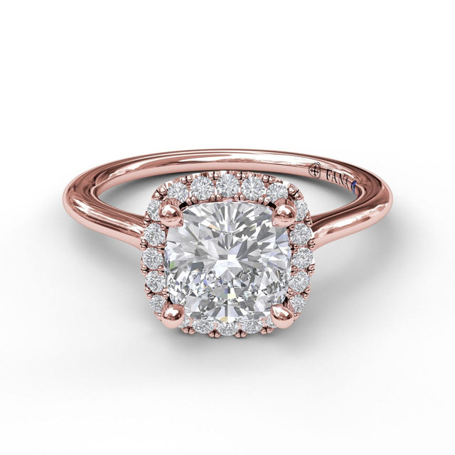 Cushion Cut Halo Engagement Ring 3044 - Chalmers Jewelers