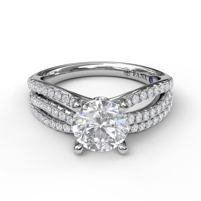 Enchanting Wave Band Engagement Ring 3074 - Chalmers Jewelers