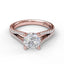 Solitaire With Split Shank Pave Band 3078 - Chalmers Jewelers