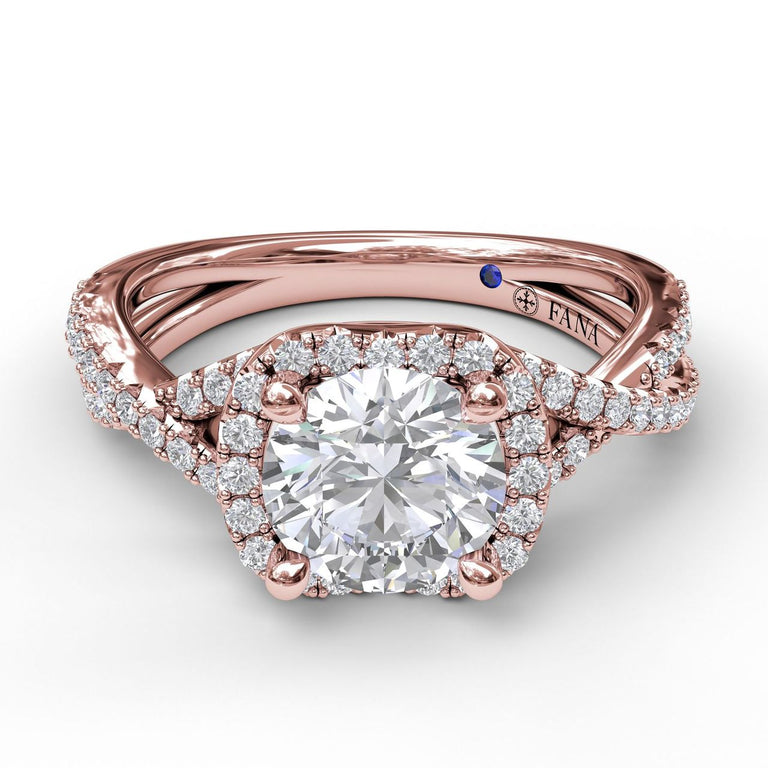 Infinity Halo Engagement Ring 3359 - Chalmers Jewelers