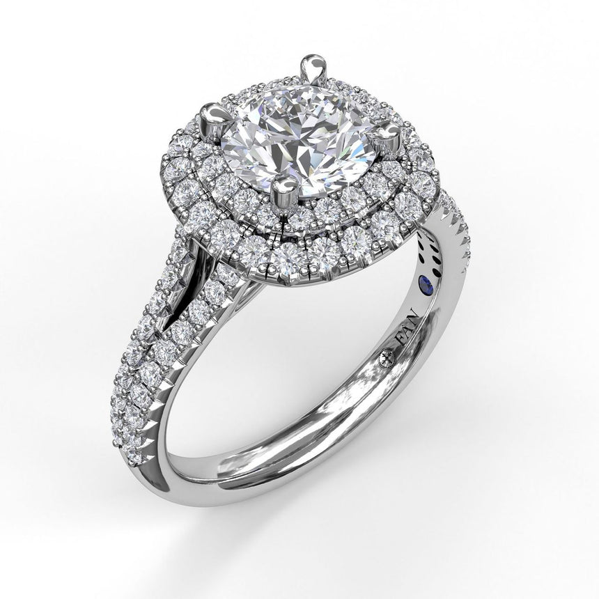 Elegant Double Halo Engagement Ring 3369 - Chalmers Jewelers
