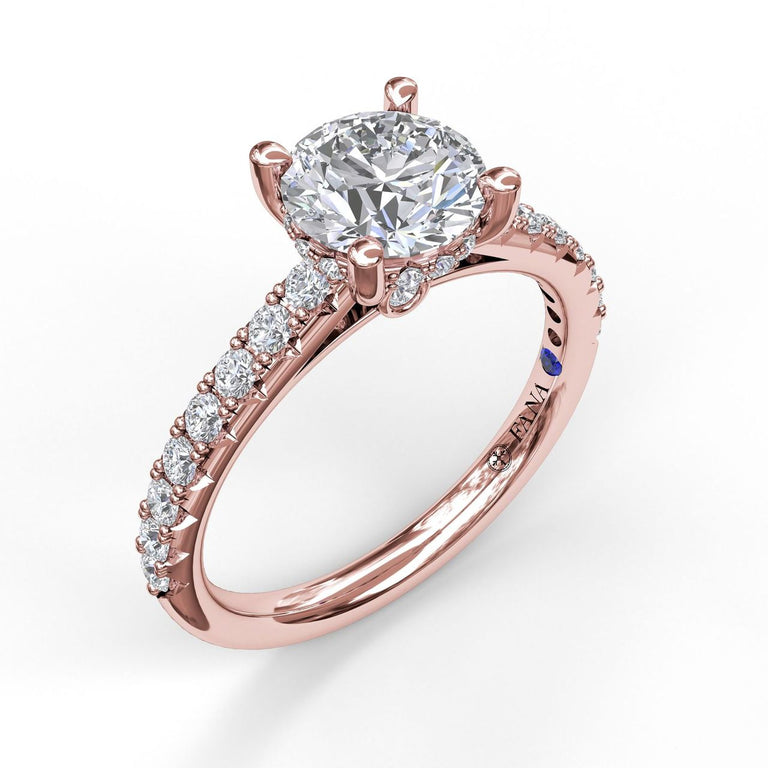 Timeless Single Row Engagement Ring 3410 - Chalmers Jewelers