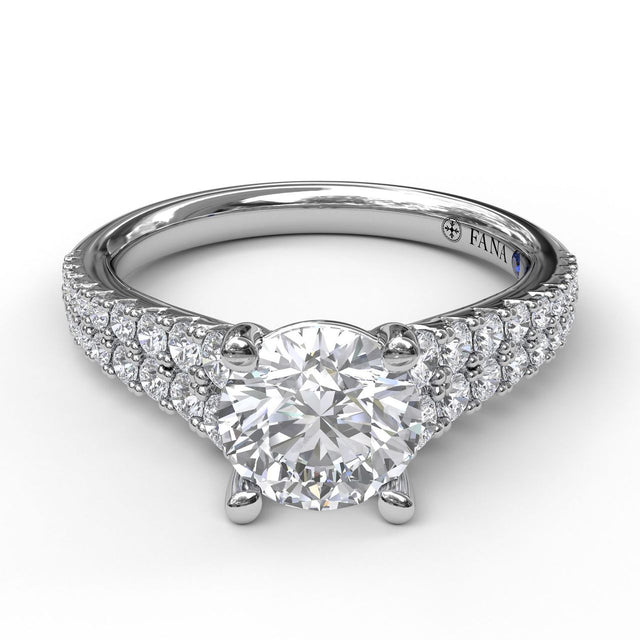 Double Row Graduated Engagement Ring 3446