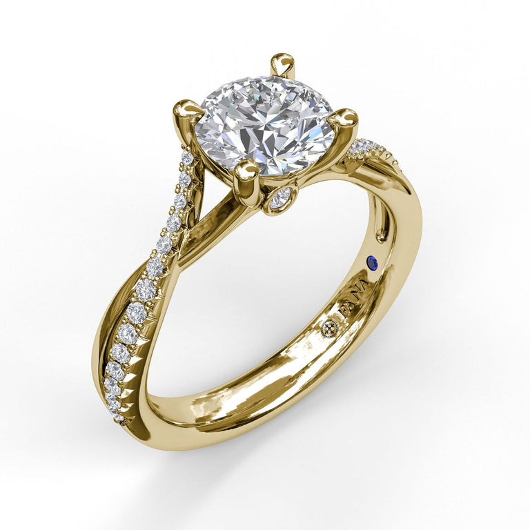 Alternating Diamond Twist Engagement Ring 3477 - Chalmers Jewelers