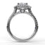 Single Row Petite Double Halo Engagement Ring 3511 - Chalmers Jewelers