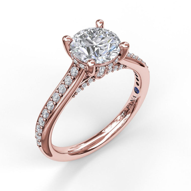 Single Row Detailed Engagement Ring 3528 - Chalmers Jewelers