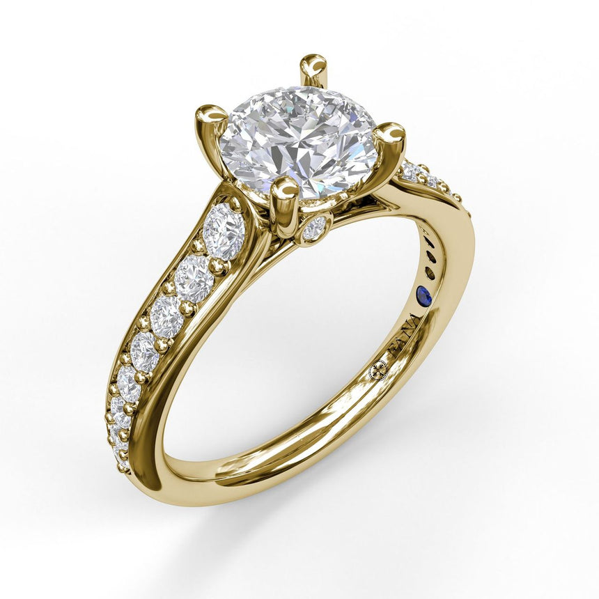 Classic Single Row Diamond Engagement Ring 3531 - Chalmers Jewelers