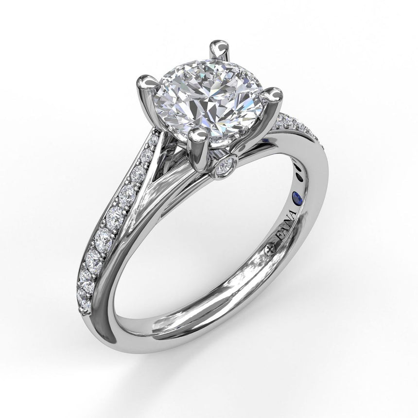 Designer Split Band Engagement Ring 3593 - Chalmers Jewelers