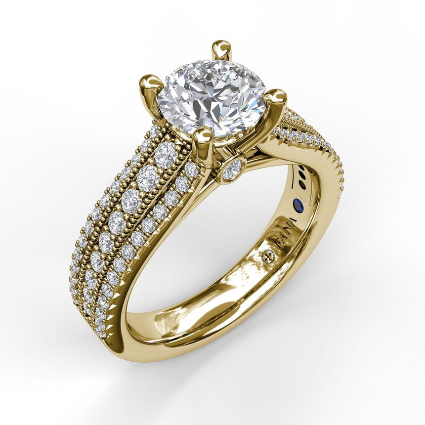 Three Row Stepped Engagement Ring 3602 - Chalmers Jewelers