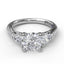 Three-Stone Engagement Ring With Pear Cut Side Stones 3756 - Chalmers Jewelers