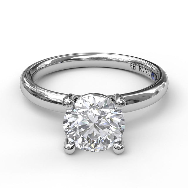 Classic Round Cut Solitaire Engagement Ring 3842