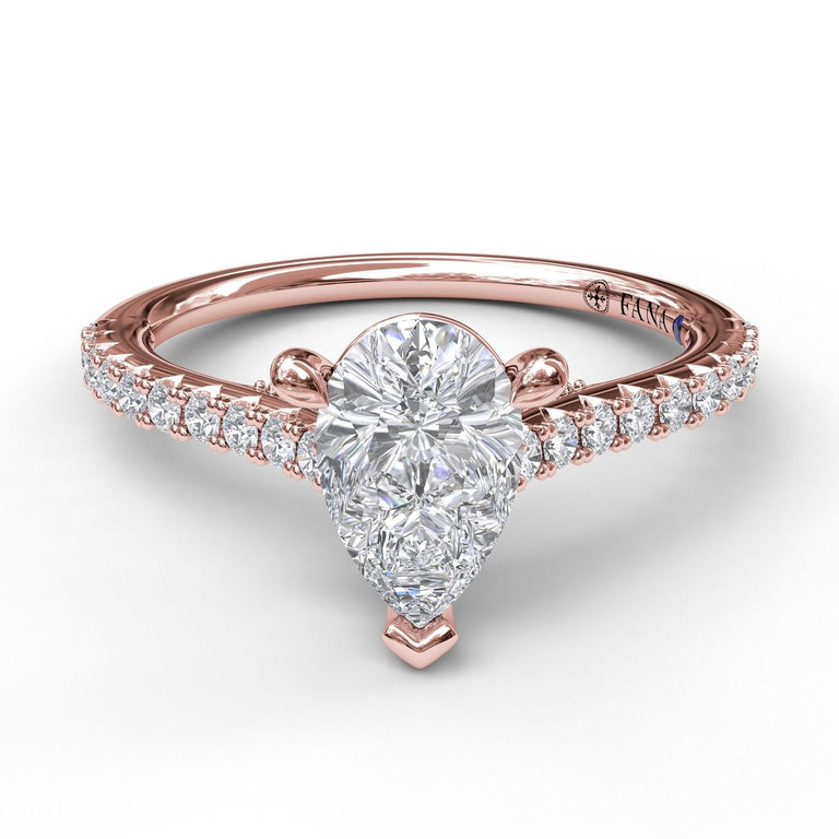 Classic Diamond Engagement Ring with Beautiful Side Detail 3881 - Chalmers Jewelers