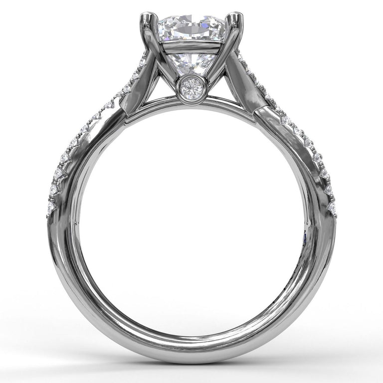 Diamond Twist Engagement Ring 3982 - Chalmers Jewelers