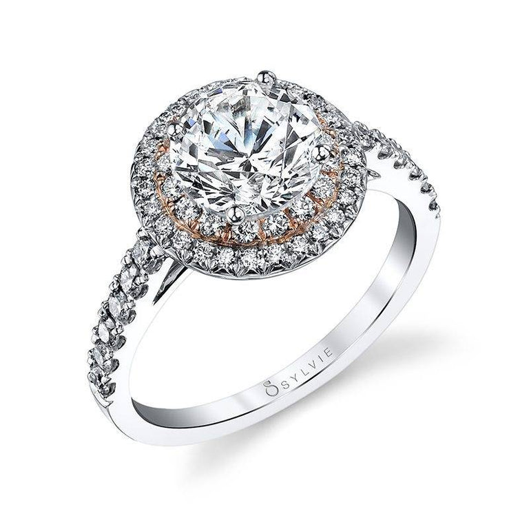 Double Halo Engagement Ring S4100 - Chalmers Jewelers