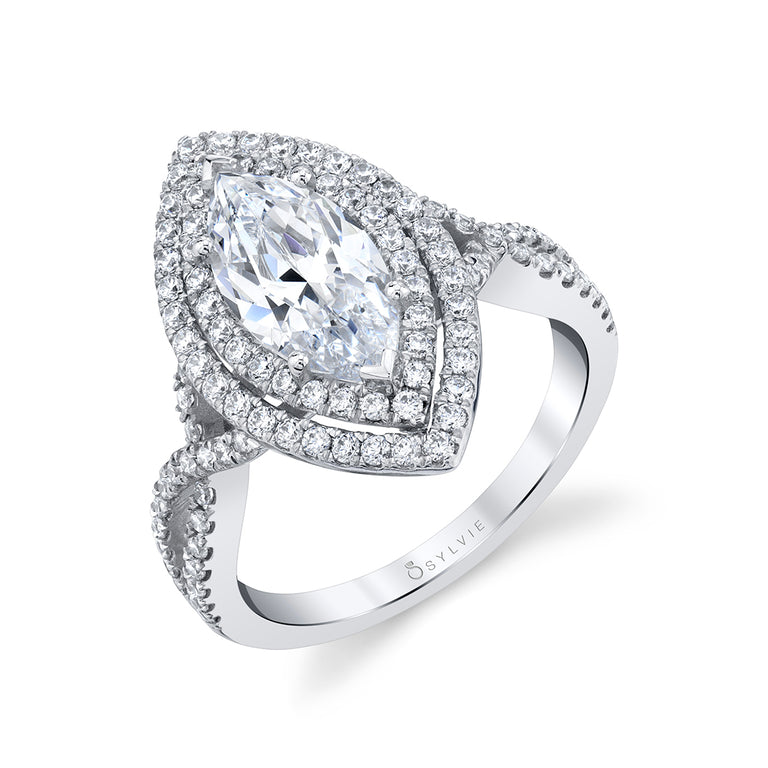Unique Marquise Engagement Ring SY260-MQ - Chalmers Jewelers