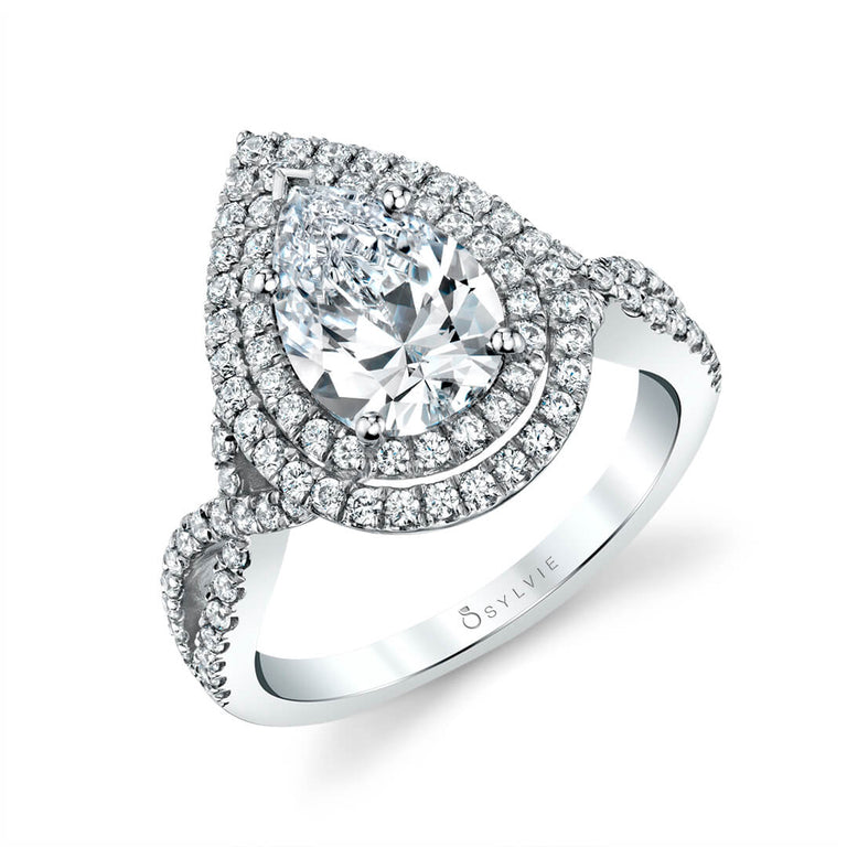 Unique Double Halo Engagement Ring SY260-PS - Chalmers Jewelers