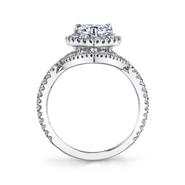 Marquise Shaped Double Halo Engagement Ring SY304-MQ - Chalmers Jewelers