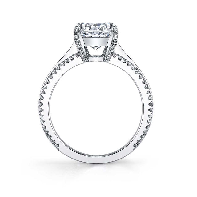 Modern Solitaire Engagement Ring SY455-TT - Chalmers Jewelers