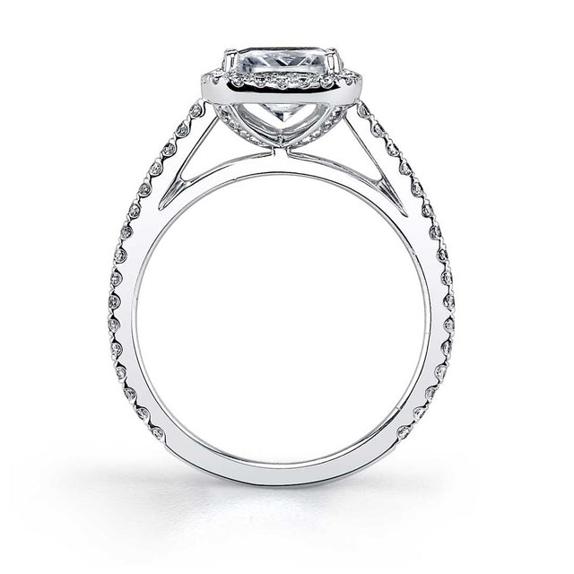 Oval Shaped Halo Engagement Ring SY590-OV - Chalmers Jewelers