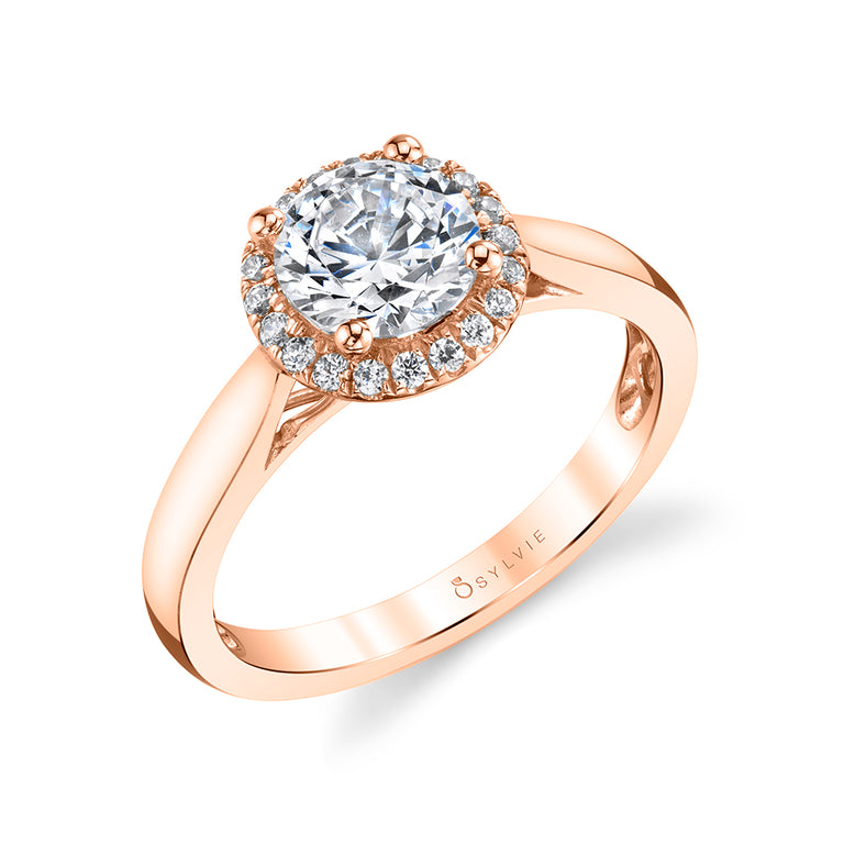 Round Halo Engagement Ring SY729 - Chalmers Jewelers