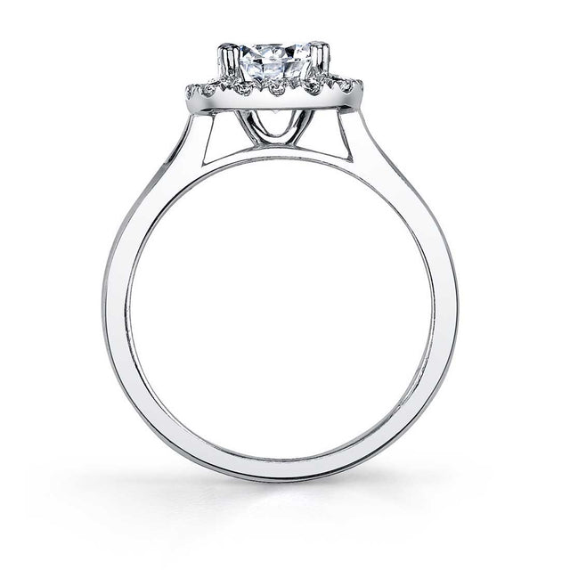 Cushion Halo Engagement Ring Two Tone SY756-YG-TT - Chalmers Jewelers
