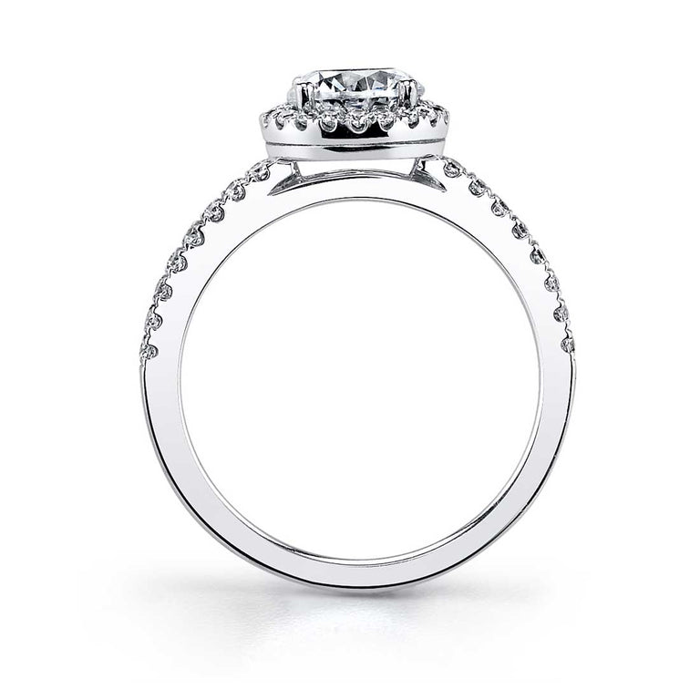 Classic Halo Engagement Ring SY854 - Chalmers Jewelers