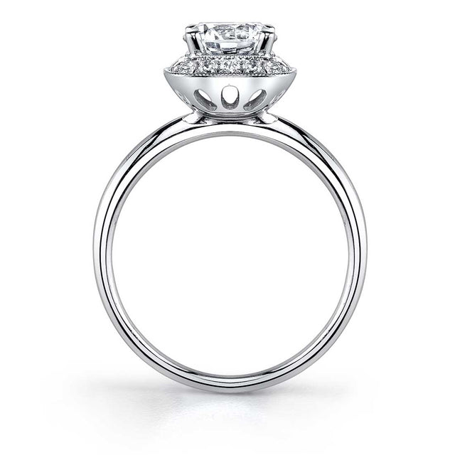 Modern Halo Engagement Ring SY859 - Chalmers Jewelers