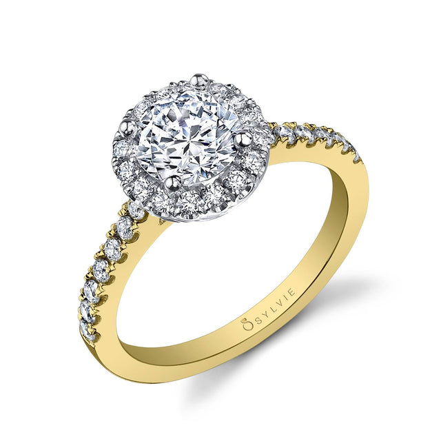 Classic Engagement Ring Two Tone SY999-RB-TT - Chalmers Jewelers