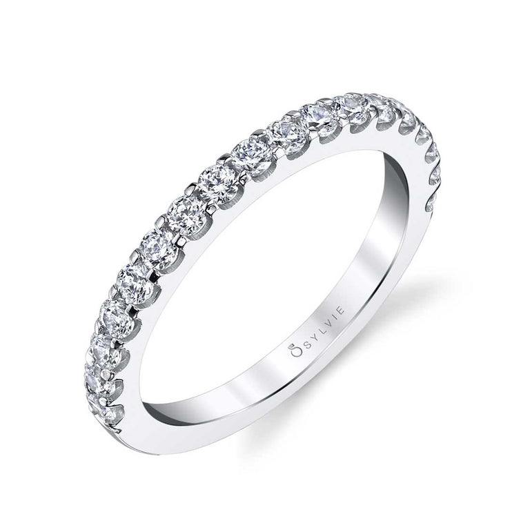 Classic Shared Prong Wedding Band BS1362 - Chalmers Jewelers