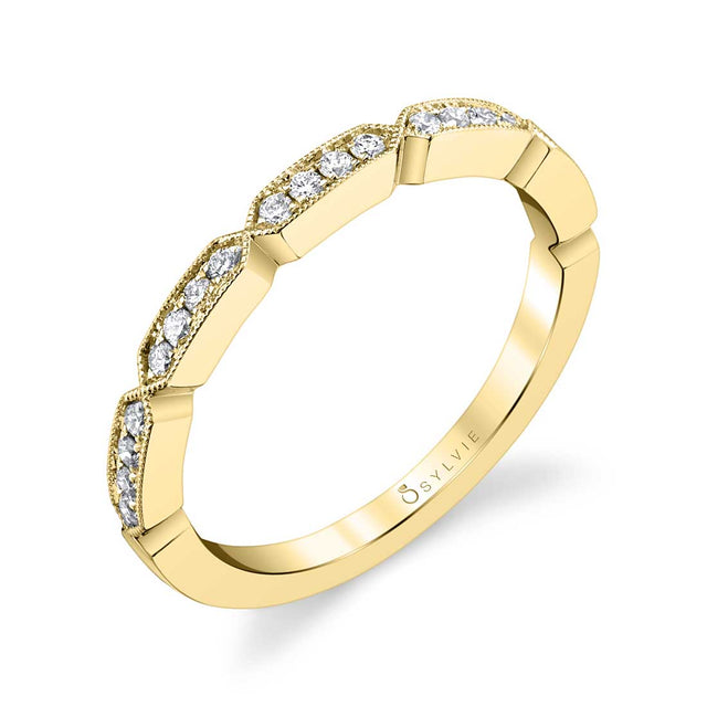 Sylvie Modern Stackable Band - B0043 - Chalmers Jewelers