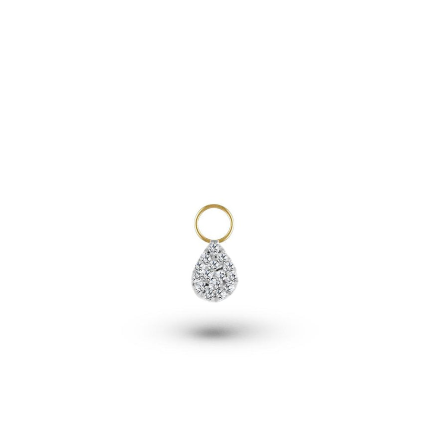 Diamond Small Pear Charm