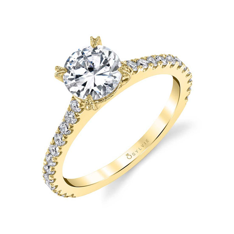 Round Solitaire Engagement Ring SY097 - Chalmers Jewelers