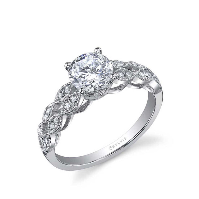 Round Solitaire Engagement Ring SY818 - Chalmers Jewelers