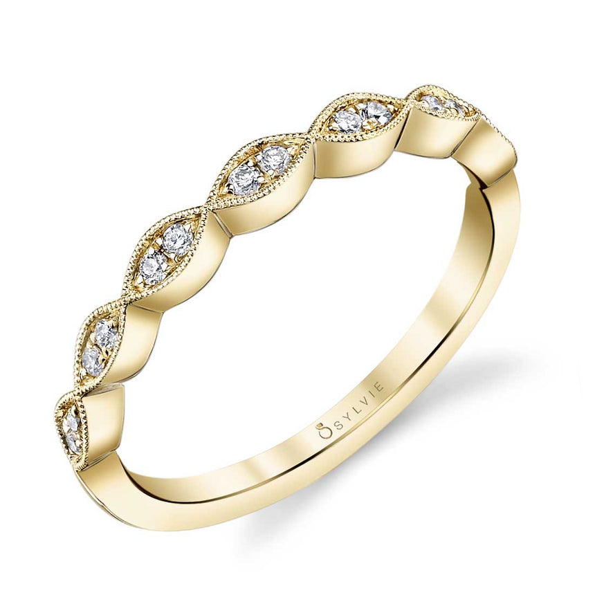 Sylvie Stackable Wedding Band - B0009 - Chalmers Jewelers