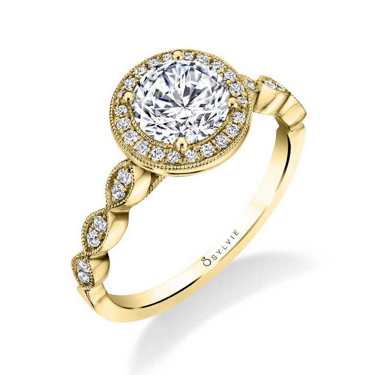 Vintage Inspired Stackable Engagement Ring S1809 - Chalmers Jewelers