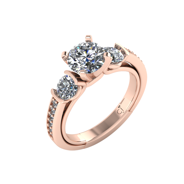 Signature Three Stone Engagement Ring - Chalmers Jewelers
