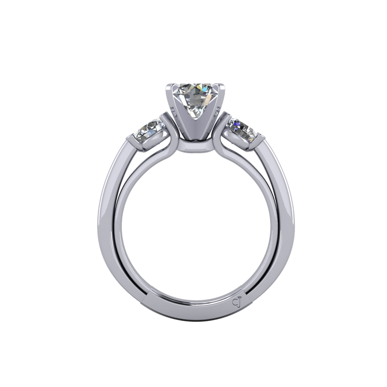 Signature Three Stone Engagement Ring